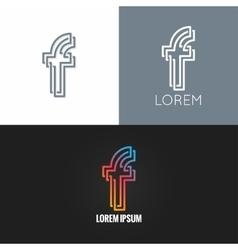 letter F logo alphabet design icon set background vector image vector image