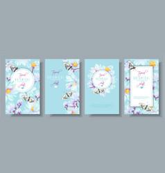 lotus vertical banners set vector image