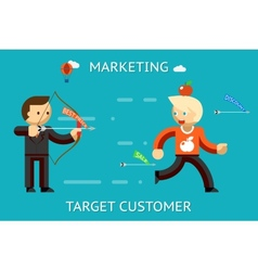 Marketing target customer vector