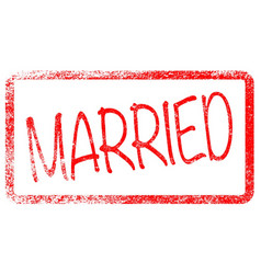 Married red stamp vector