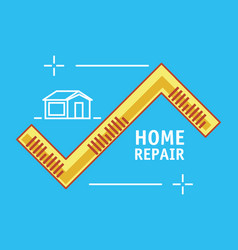 Measure tape with home repair icons vector