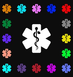 Medicine icon sign Lots of colorful symbols for vector image