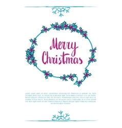 Merry christmas wording vector