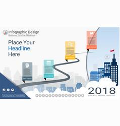 Milestone timeline infographics template vector