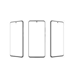 modern frameless smartphones mockups vector image