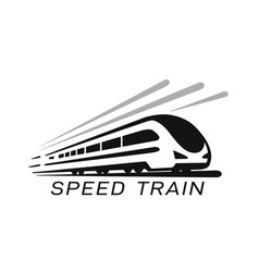 modern high speed train emblem vector image
