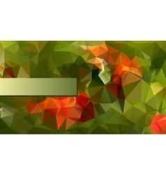 Modern Poligonal Design in Red and Green Color vector