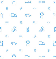 Package icons pattern seamless white background vector