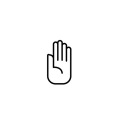 palm hand icon vector image