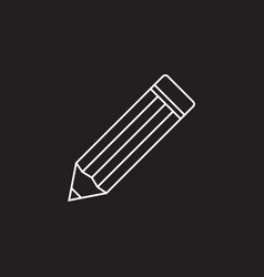 pencil thin line icon edit outline l vector image