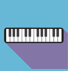 piano icon with a long shadow vector image