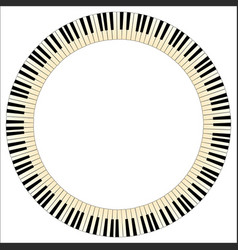 Pianom keys circle vector