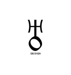 Planet symbol sign uranus symbol vector