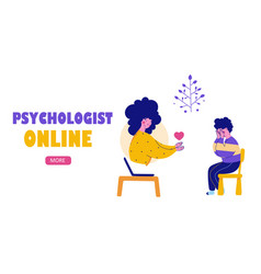 Psychological help online child support bullying vector