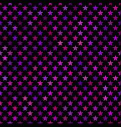 purple seamless pentagram star pattern background vector image