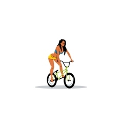 Sexy Girl on BMX sign vector image