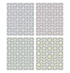 Simple geometric patterns in light pastel colors vector