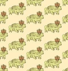 Sketch fancy frog in vintage style vector image