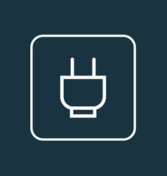 Socket outline symbol premium quality isolated vector