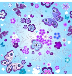 Spring seamless floral pattern vector