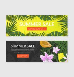 summer sale landing page templates set web page vector image