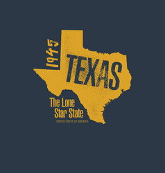 texas related t-shirt design vector image