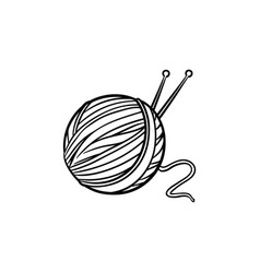 Thread with spokes hand drawn sketch icon vector