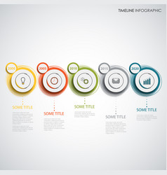 time line info graphic with design colorful vector image