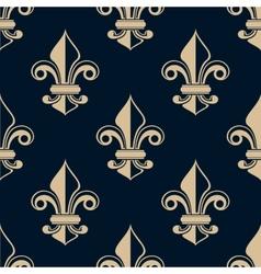 Vintage fleur de lys seamless pattern vector image