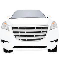 White car front view vector