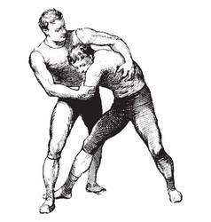 Wrestling vintage vector