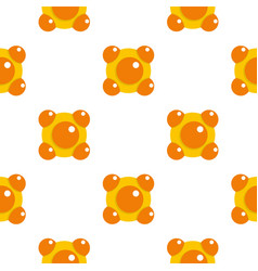 Yellow and orange molecules pattern flat vector