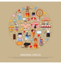 Amazing Circus Concept vector image vector image