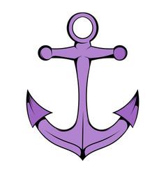 anchor icon in icon cartoon vector image