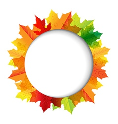 Autumn Composition With Speech Bubble vector image vector image
