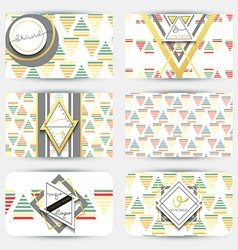 Business card with geometric patterns Card modern vector image