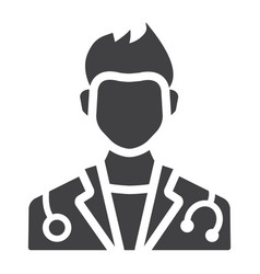 doctor glyph icon medicine and healthcare vector image