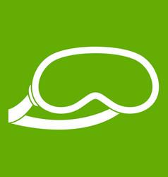 protective eye mask for sleeping icon green vector image vector image