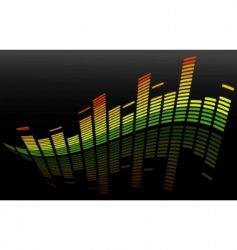 vector equalizer abstract background vector image vector image