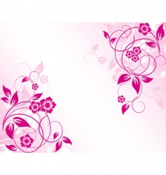 floral abstract background vector vector image vector image