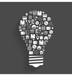 Internet shopping innovation idea concept vector image
