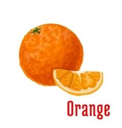Juicy tropical orange fruit icon for food design vector image vector image