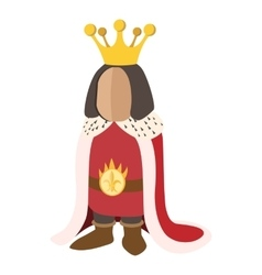 Medieval king cartoon icon vector