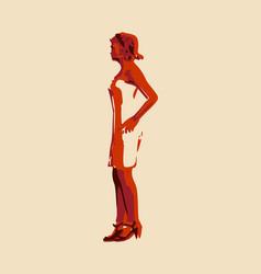 Posing lady figure vector