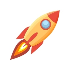 Rocket icon on White Background vector image vector image
