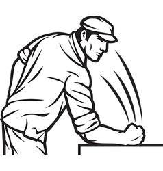 Angry Man Slamming the Table vector image vector image