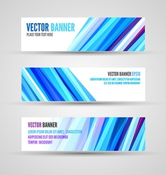 banners blue ocean vector image vector image