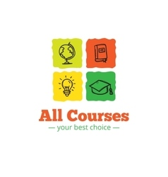 educational logo in doodle style Sketchy vector image vector image
