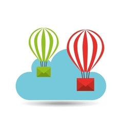 email balloon cloud mail vector image vector image