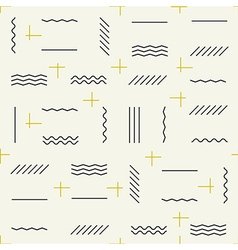 Geometric lines seamless pattern with golden vector image vector image